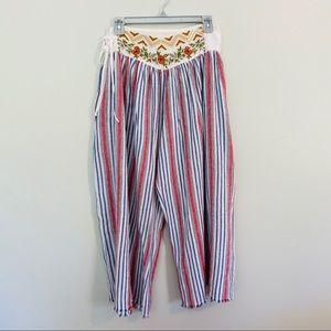 Aratta Silent Journey Embroidered Boho Pants Sz XS